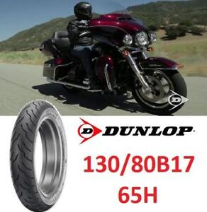 NEW DUNLOP 130/80B17 65H TIRE 4513-1178 200589086 AMERICAN ELITE MOTORCYCLE BIKE FRONT TIRE