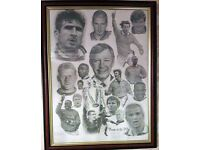 **FREE** Pencil art drawing (print) of Manchester United team of the 90's