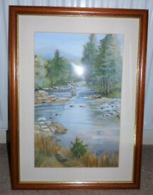 *Reduced to Clear* Landscape WATER SCENE, Unsigned, Large Picture