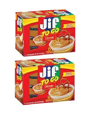 Jif To Go Creamy Peanut Butter 16 Snack Cups