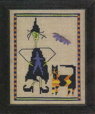 BAT KITTY HALLOWEEN WITCH AND CAT CROSS STITCH KIT PRAIRIE MOON, OOP](Halloween Kit Kat)