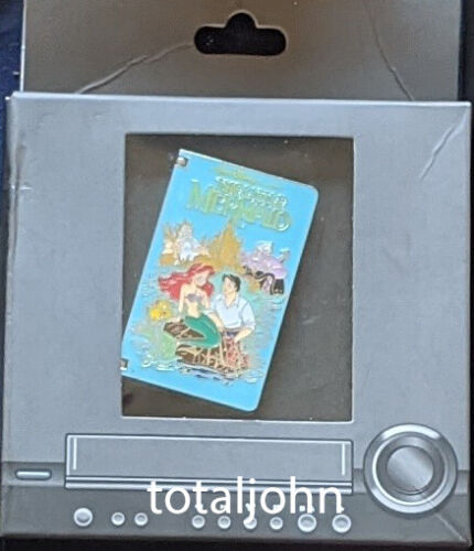 Disney DLR - VCR Tape - The Little Mermaid Ariel Pin