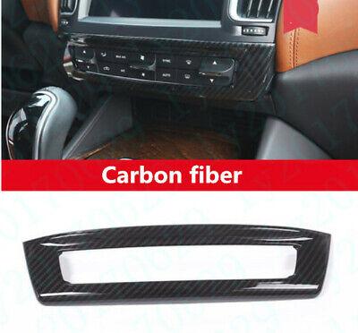 1x Carbon fiber Front Center Console Button Cover For Maserati Levante 2017-2019