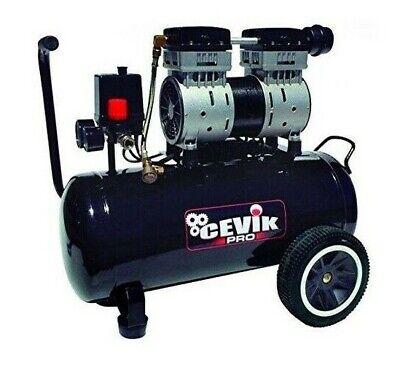 Compresor de aire CEVIK CA-PRO24SILENT silencioso 24 litros 1.5 caballos