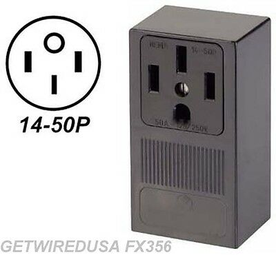 Welder Electric Wall Outlet Female 14-50r 4-prong Plug In Box 220 Receptacle