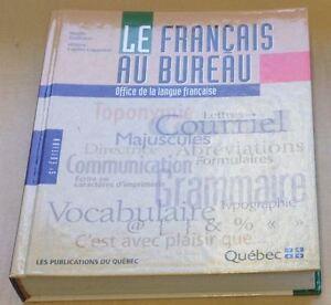 Le fran ais au bureau livres dans grand montr al - Dictionnaire office de la langue francaise ...
