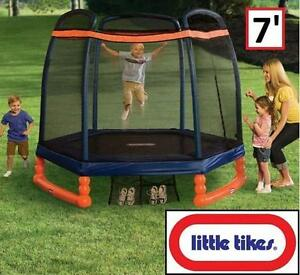 NEW LITTLE TIKES OUTDOOR TRAMPOLINE 7' 3 TO 10 YEARS - TOYS OUTDOORS PLAY GAMES GAME 101924869