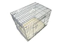 Brand new Ellie -Bo Deluxe silver Dog Cage. With Faux sheepskin bed.