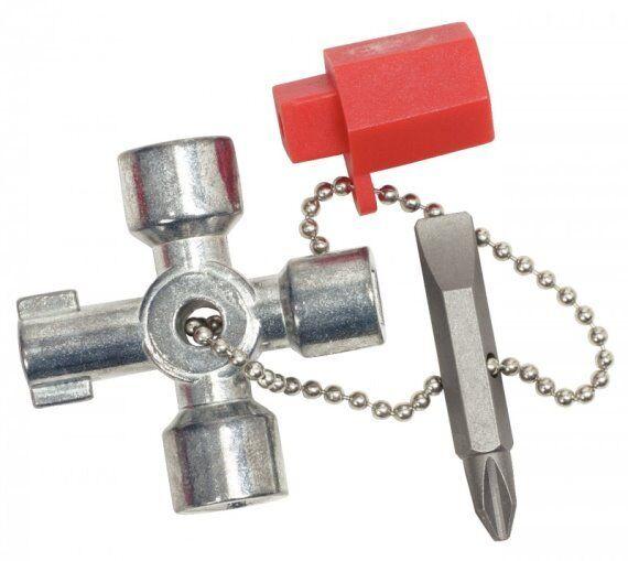 KS TOOLS 130.1010 Mini- Schaltschrankschlüssel, 42 mm