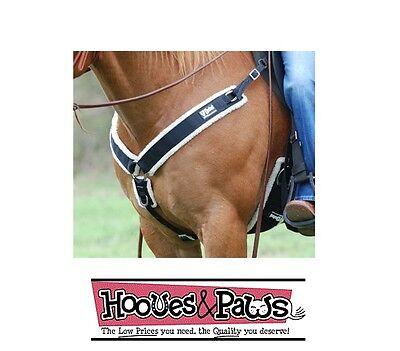 Cashel BREAST COLLAR with fleece for western saddle horse BLACK breastcollar