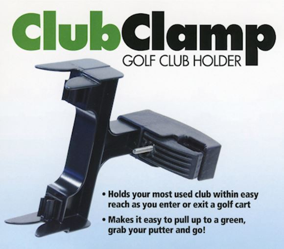 Club Clamp - Golf Club Holder* Speeds Up The Pace Of Play*Club Within Easy Reach
