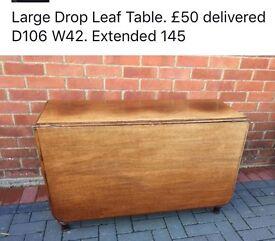 Large drop Leaf Table.