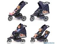 Phil and teds double pram for sale