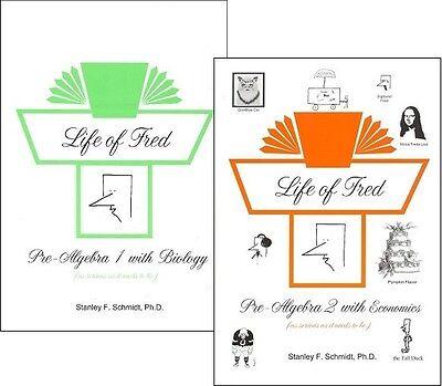 Life of Fred SET -- Pre-algebra 1 with Biology & Pre-algebra 2 with (Life Of Fred Pre Algebra 1 With Biology)