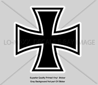 (Iron Cross German Military Emblem Aircraft Fighter Bomber Insignia Decal Sticker)