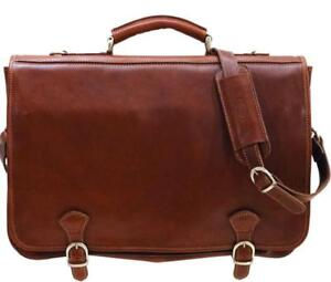 Reward for Lost soft brown leather briefcase