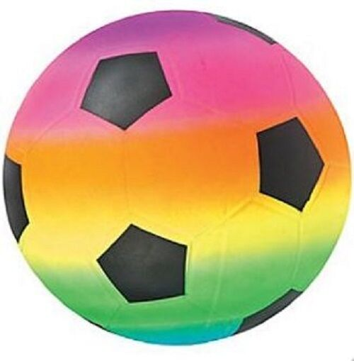 "Rainbow Soccer Ball for 18"" American Girl Doll Sports Accessory"