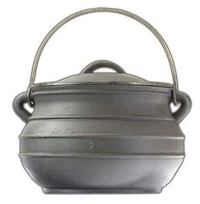 Cast iron Potjie pot Cauldron Size 1//2 Bean pot Sage Smudge Ritual Altar pot