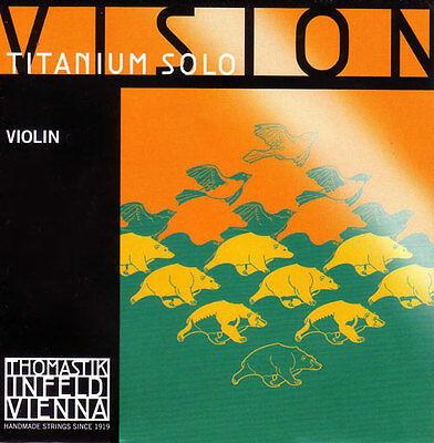 Thomastik Vision Titanium Solo 4/4 Violin String Set: Medium Gauge