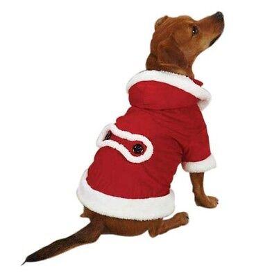 Santa Paws Jolly Dog Coat Casual Canine XXS Size Unisex Polyester (Santa Paws Dog Coat)
