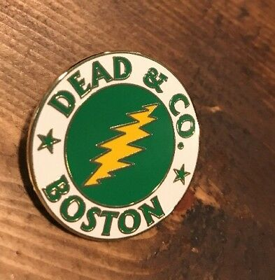 Dead and Company Boston, MA Pin Grateful Not Poster Lightning Bolt &