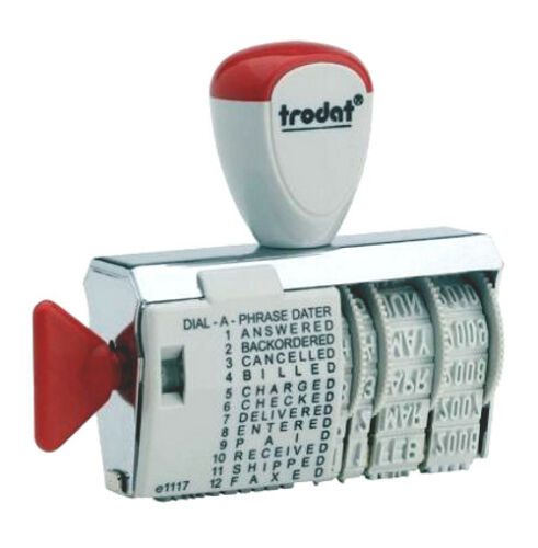 Trodat 1117 Dial-A-Phrase Date Stamp, American Date Format
