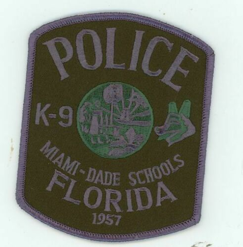 MIAMI DADE SCHOOLS POLICE FLORIDA FL K-9 SUBDUED NEW PATCH SHERIFF