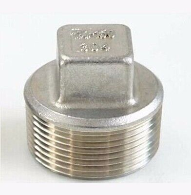 12 Bsp Male 304 Stainless Steel Pipe Fitting Countersunk Plug Square Head