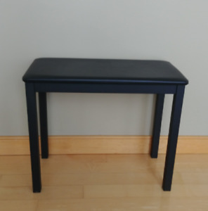 Black Piano Bench