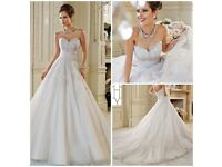 Sophia Tolli designer ivory princess wedding dress size 14 Brand new