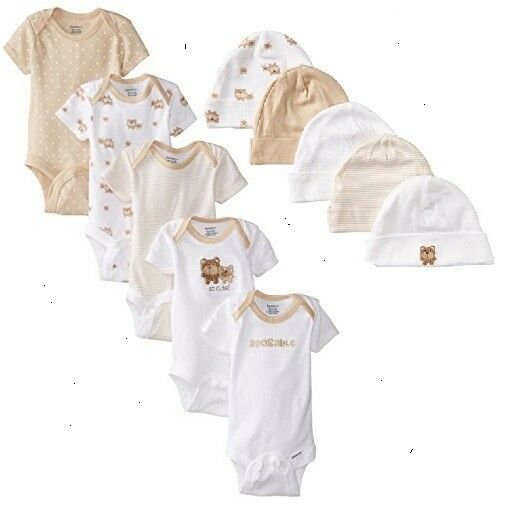 baby neutral 10 piece tan onesies