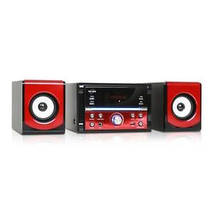 COMPACT HIFI CD PLAYER STEREO SYSTEM USB SD MP3 READER FM RADIO MICROPHONE INPUT