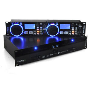 IBIZA DJ DOPPEL CD MP3 ID3 USB SD PLAYER SCRATCH LOOP