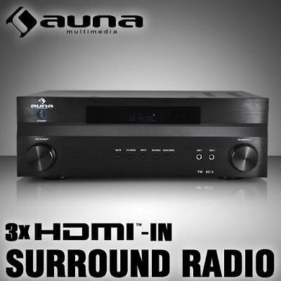 (B-WARE) 5.1 HIFI SURROUND HEIMKINO RECEIVER VOLL VERSTÄRKER RADIO TUNER 3x HDMI