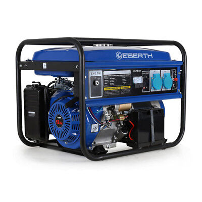EBERTH 5500W Generador electrico gasolina Grupo electrogeno corriente monofasico