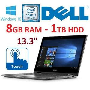 RFB DELL INSPIRON PC LAPTOP 13.3 5378 248592325 I5-7200U 8GB RAM 1TB HDD TOUCHSCREEN WIN10 REFURBISHED NOTEBOOK COMP...