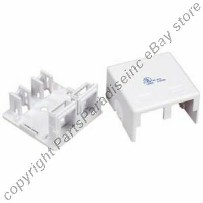 Keystone Jack Surface Mount Box - Double Hole SURFACE Mount Keystone Wall Box,2/Dual Jack/Port for Cat5e/6 {WHITE