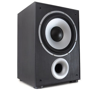 LTC ACTIVE HOME CINEMA HIFI SUBWOOFER BLACK 100W BASS * FREE P&P SPECIAL OFFER