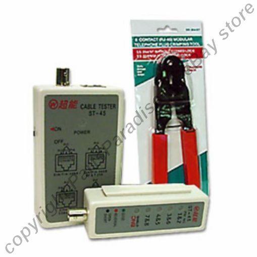 RJ45 Patch Cable Tester+Crimper/Crimping/Crimp Tool, Ethernet Network Cat6 Cat5e