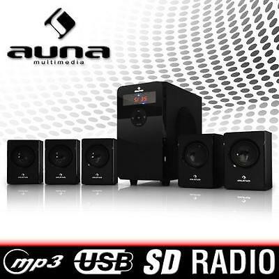 Heimkino System 5.1 Lautsprecher Surround Sound System Boxen MP3 USB SD UKW 70W