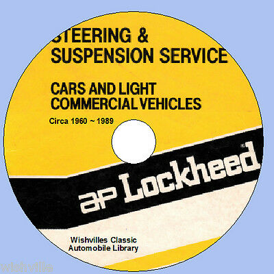 Lockheed Steering &  Suspension Information  circa 1960 ~ 1989 DVD ROM
