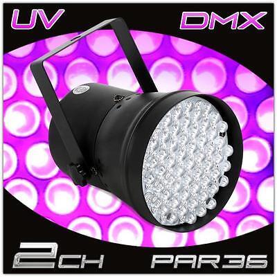 2 KANAL DMX LED LICHT EFFEKT DJ PARTY DISCO BÜHNEN SHOW PAR 36 UV SPOT STRAHLER