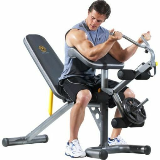 Home Gym Workout Bench Squat Rack Body Power Strength Traini