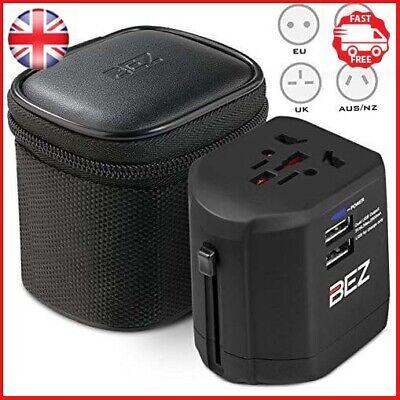 BEZ Worldwide Travel Adapter, the best International Plug [US UK EU AU] with
