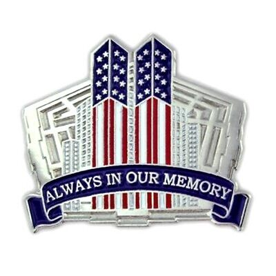 9 11 01 pin american flag twin towers pentagon always in our memory remember new