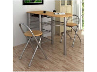 Kitchen Breakfast Bar Table and 2 Chairs Set
