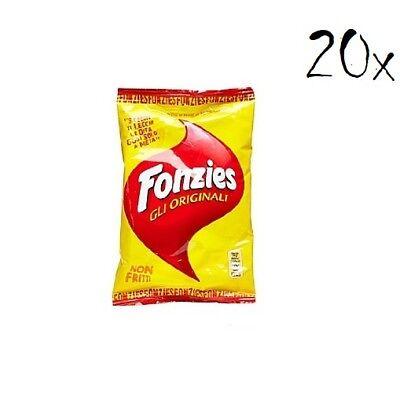 20x Fonzies  Maissnack Maischips mit Käse 40g chips mais aus italien