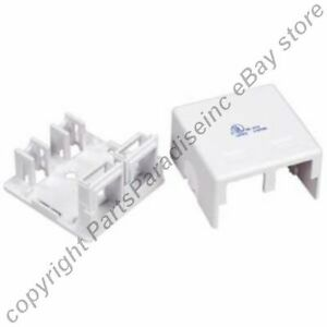Lot100 Double Hole SURFACE Mount Keystone Wall Box,2 Jack/Port for Cat5e/6{WHITE