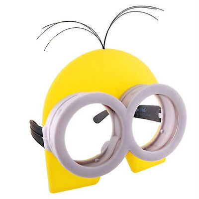 DESPICABLE ME MINION MINIONS COSTUME GOGGLES GLASSES W/ YELLOW  HEAD MASK ADULT - Minion Mask