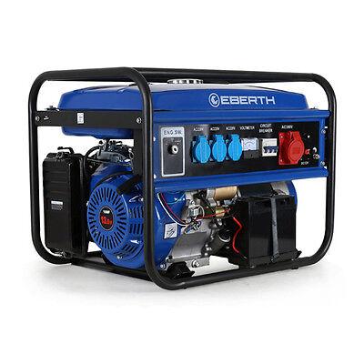 EBERTH 5500 Watt Stromerzeuger Notstromaggregat Stromaggregat Generator Benzin